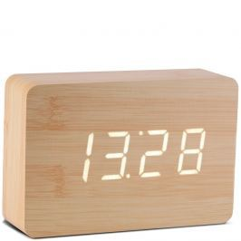 Budzik LED Brick Click Clock Gingko buk (GK15W11)